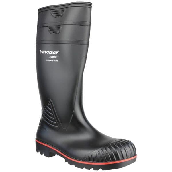 Dunlop Acifort Safety Wellingtons Black